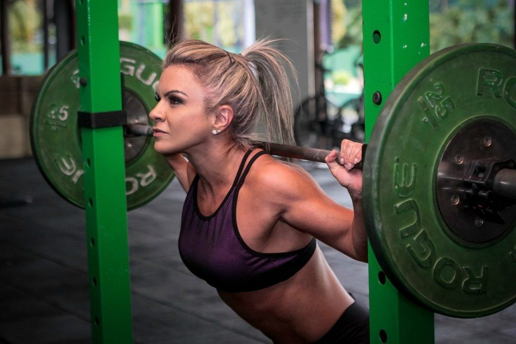 weightlifting, workout, girl